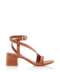 Nio I nude suede strappy sandals