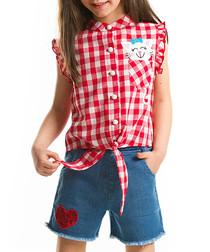 2pc Girl's Kitten top & shorts set