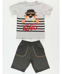 2pc Boy's Agent Bobo top & shorts