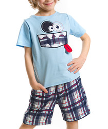 2pc Boy's Mr Funny top & shorts set