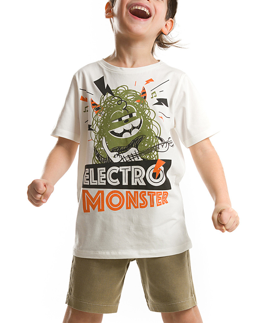 2pc Boy's Electro Monster shorts & top Sale - denokids