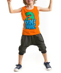 2pc Boy's Panic cotton shorts & top
