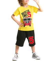 2pc Boy's Unit 5 cotton shorts & top