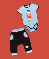 3pc Boy's City Cars cotton set