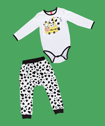 2pc Boys' Milk Corp babygrow set