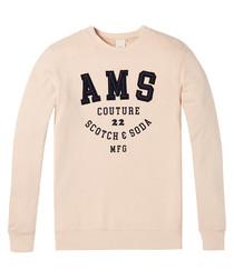 Dust pure cotton long sleeve logo jumper