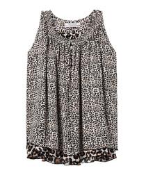 Leopard print sleeveless blouse