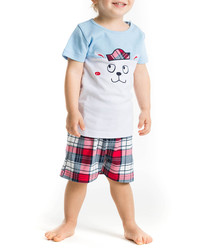 2pc Boy's Sailor Dog top & shorts set
