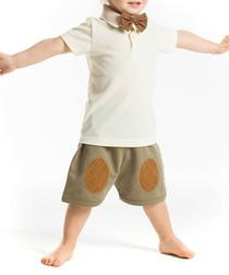 2pc Boy's Mr Bow-Tie shorts & top set