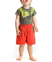 2pc Boy's Dino shorts & T-shirt set