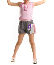 2pc Girl's Carousel cotton top & shorts