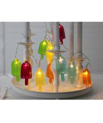 Multi-coloured popsicle light chain