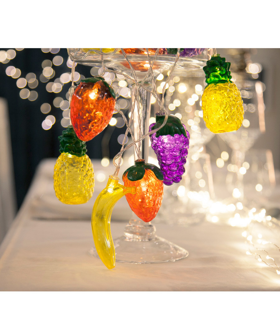 Multi-coloured fruits 10-LED light chain Sale - solar lighting