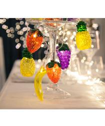 Multi-coloured fruits 10-LED light chain