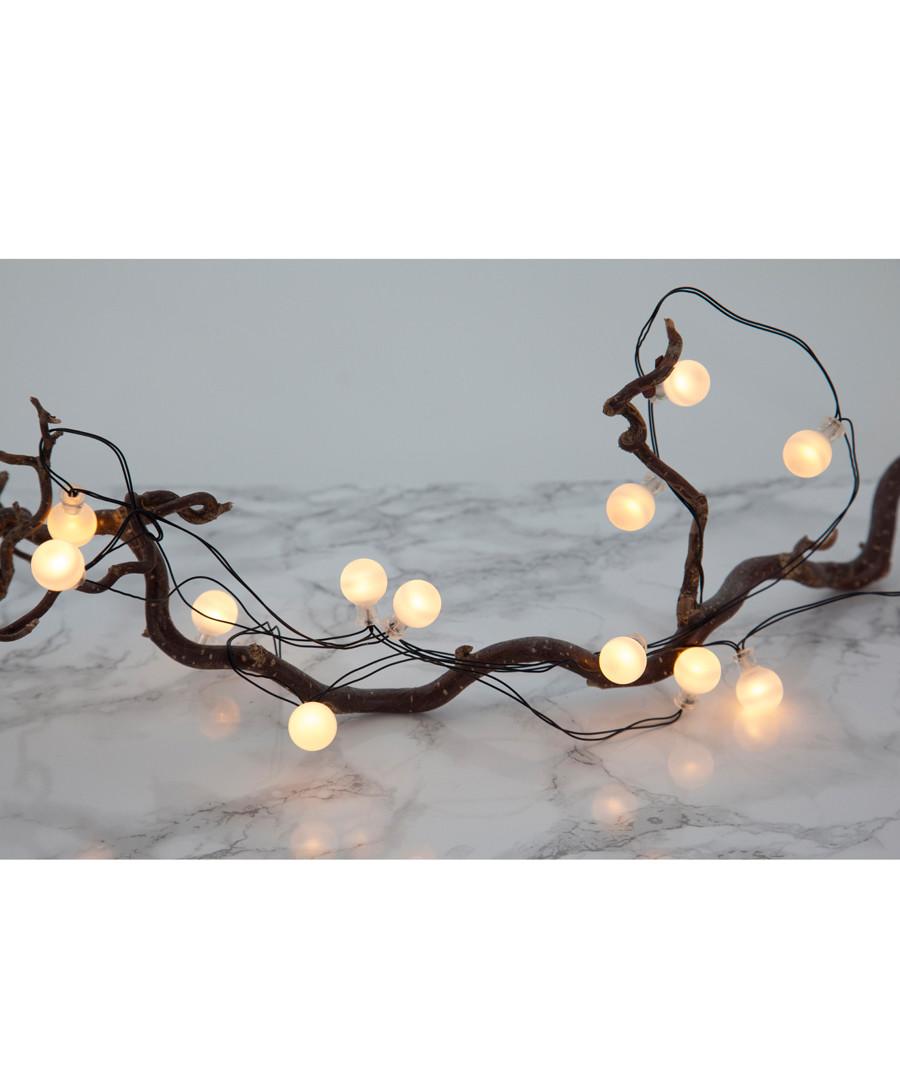 Frosted globe & black chain light Sale - solar lighting