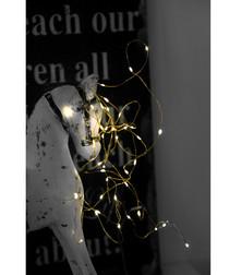 40 dew drop brass-tone light chain