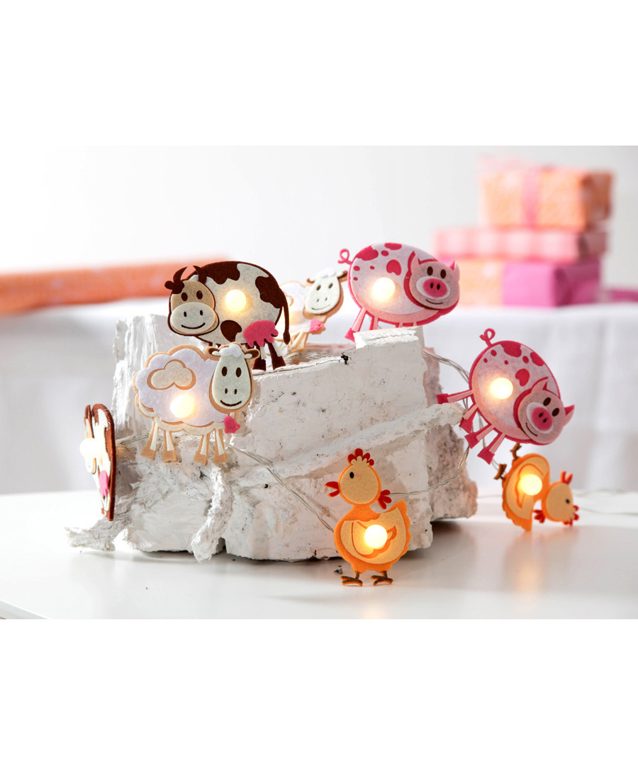 Farm animals battery light chain Sale - Party Lighting