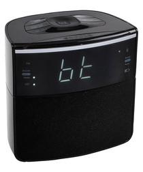 Black radio bluetooth alarm clock