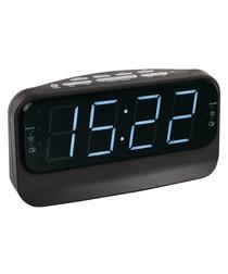 Black FM radio alarm clock