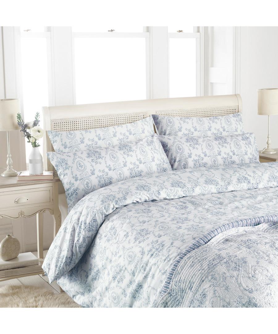 Etoille blue cotton single duvet set Sale - riva paoletti