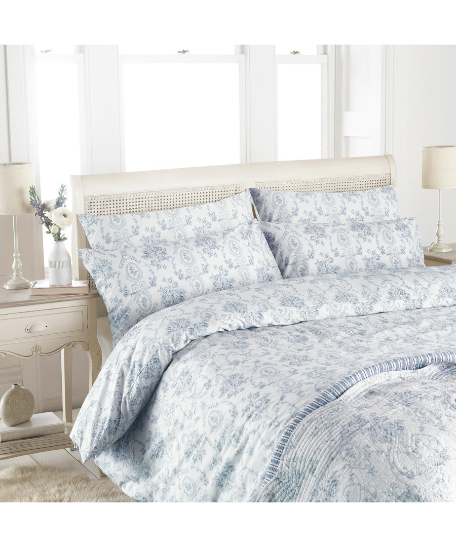 Etoille blue cotton double duvet set Sale - riva paoletti