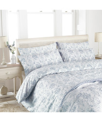 Etoille blue cotton s.king duvet set