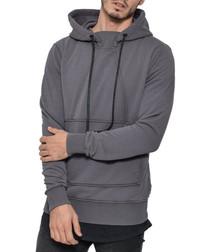 Horessio grey pure cotton hoodie