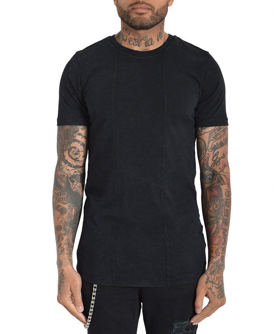 Squario black pure cotton T-shirt Sale - Avior