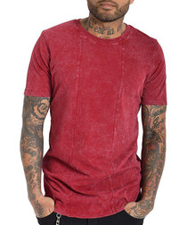 Squario red pure cotton T-shirt