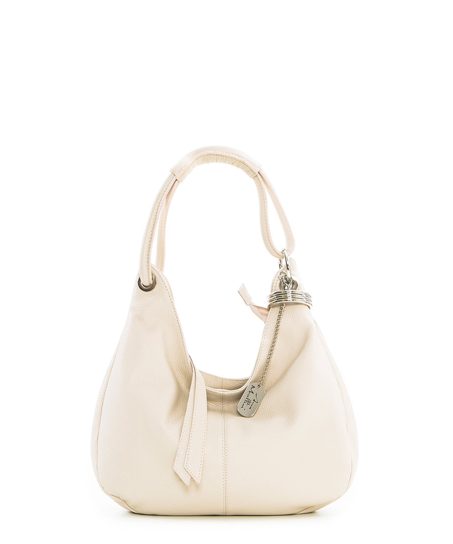 Beige leather slouch bag Sale - anna morellini