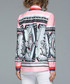 Pink & grey print pussybow shirt Sale - Kaimilan Sale