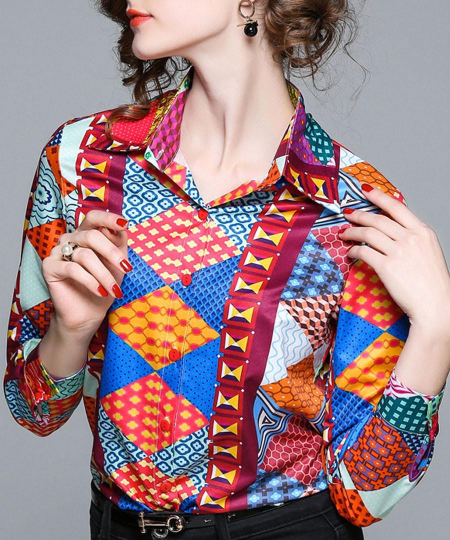Multi-colour print button-up shirt Sale - Kaimilan