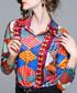 Multi-colour print button-up shirt Sale - Kaimilan Sale