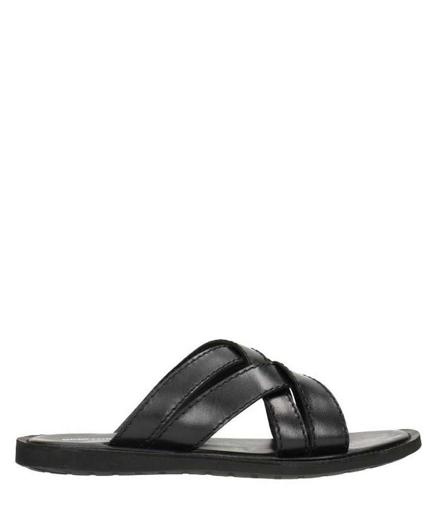 Black leather crossover sandals  Sale - gino rossi