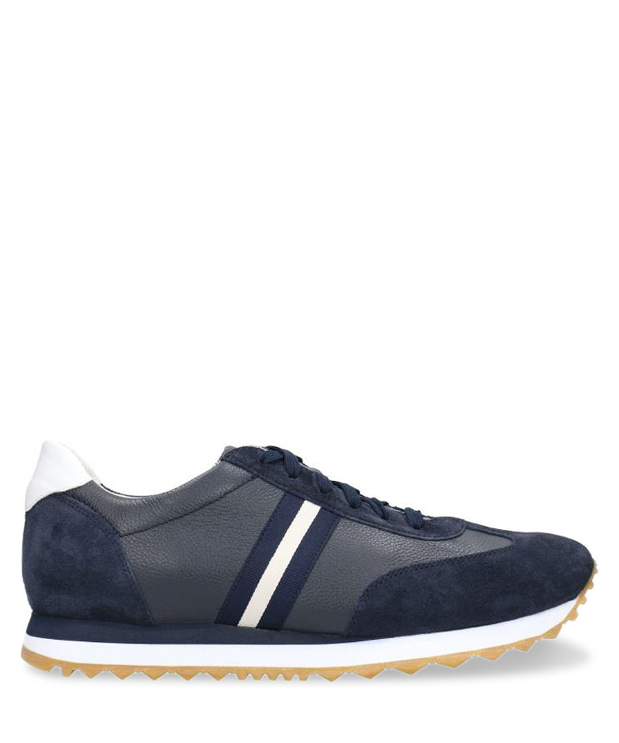 Navy blue & white leather sneakers  Sale - Gino Rossi
