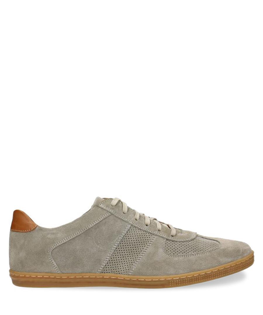 Light grey & cognac suede sneakers  Sale - Gino Rossi