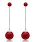 Carmine Tassel red bauble earrings Sale - caromay Sale