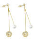 Bump 18ct gold-plated drop earrings Sale - caromay Sale