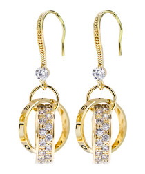 Strong Connection gold-tone earrings