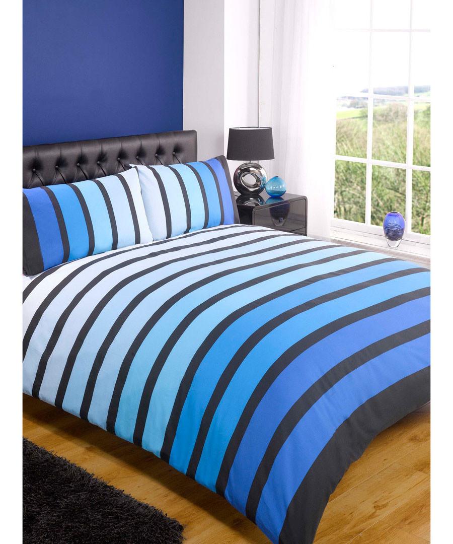 Polyester-Cotton Blue Rapport Argyle Duvet Set Double