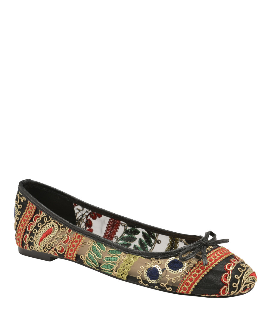 Multi-colour embroidered ballet flats Sale - ravel