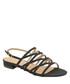 Black studded strappy flat sandals Sale - ravel Sale