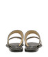 Black leather weave-detail sandals Sale - ravel Sale