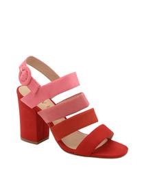 Red gradient strappy sandals