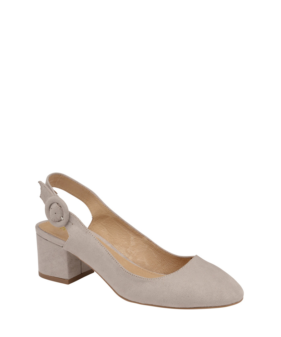 Grey slingback heeled sandals Sale - ravel