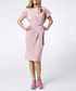 Light pink short sleeve tie-waist dress Sale - peperuna Sale