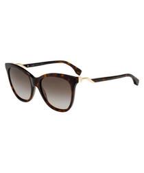 Havana & grey gradient sunglasses