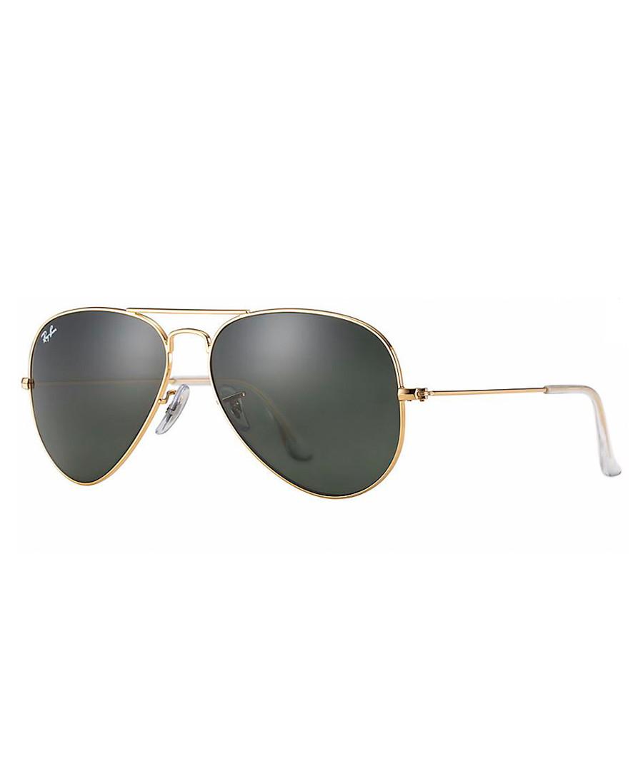 Gold-tone & green aviator sunglasses Sale - ray-ban