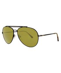 Green aviator sunglasses