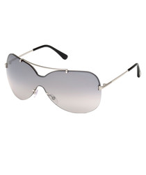 Women's silver visor sunglasses